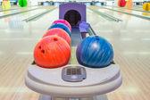 Close-up view of bowling balls — Stock Photo