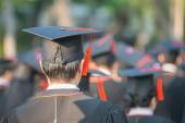 Back of graduates during commencement. — Stock Photo