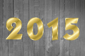 2015 Happy New Year Greeting Card. Wood Background.  — Stock Photo