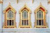 Finestra di Wat Benchamabophit a Bangkok, Thailand — Foto Stock