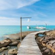 Paradise. Vacations And Tourism Concept. Tropical Resort. Jetty — Stock Photo #64791355