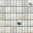 Freight shipping containers at the docks — Stock Photo #70689215