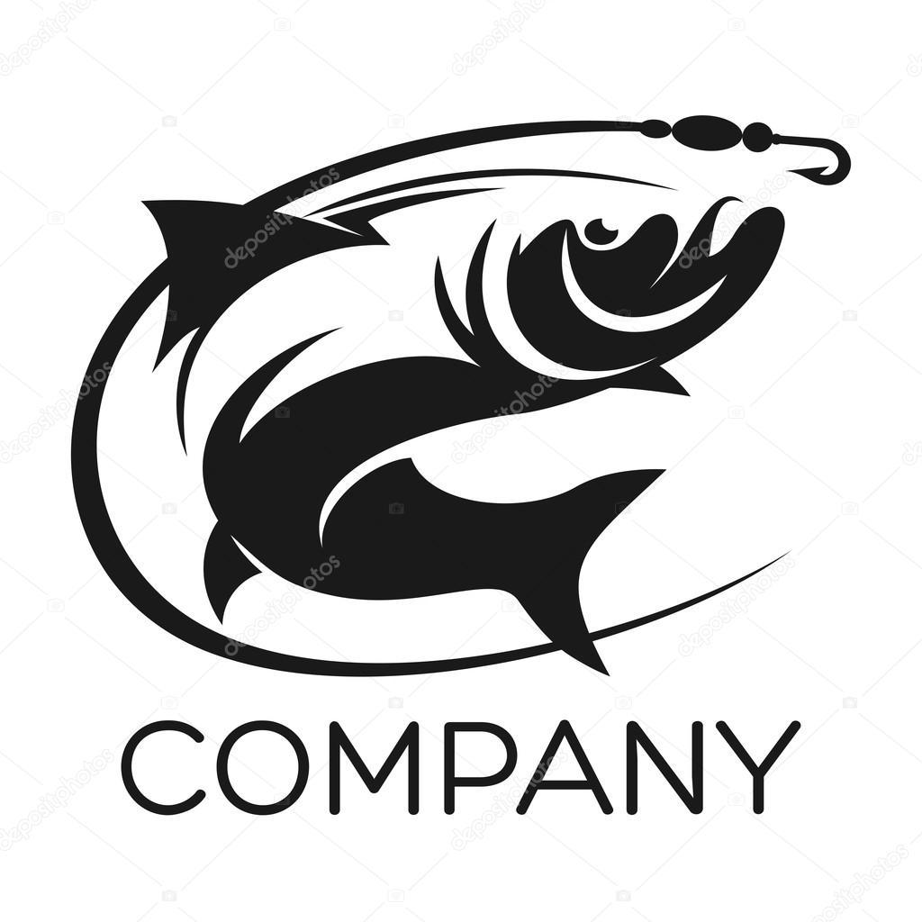 рыбалка логотип как создать