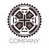 Logo yeri yardım — Stok Vektör
