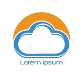 An logo is a cloud — Stock Vector