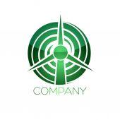 Wind generator  logotype — Stock Vector