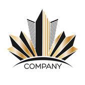 Logotipo de inmobiliaria — Vector de stock