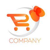Light cart logotype — Stock Vector