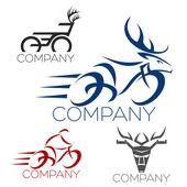 Bicycle logotype — Stock Vector