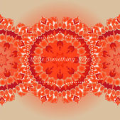 Vector delicate lace round pattern — Stock Vector