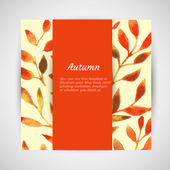 Vector autumn watercolor leaf pattern template — Vettoriale Stock