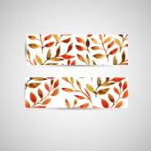 Vector autumn watercolor leaf pattern template — Wektor stockowy