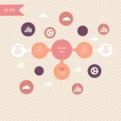 Diagrama redondo colorido metaball infografía — Vector de stock