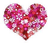 Pink flowers heart shape — Stock Photo