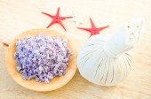 Salt Spa and Thai herbal compress for spa. — Stock Photo