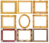 Set of golden vintage frame isolated on white background — Stock Photo
