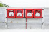 Red Fire Hose Cabinet — Stock Photo