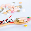 Mers-Cov ,Concept drugs for Stop MERS-CoV. — Stock Photo #81496694