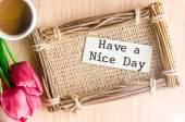 Good morning paper tag. — Stock Photo