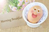 Morning breakfast and egg — Stock Photo