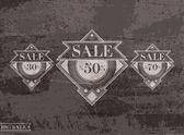 Set of vintage vector sale labels — Stock Vector