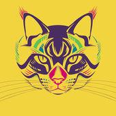 Ilustración creativa de la cabeza de un gato — Vector de stock