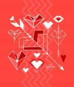 情人节那天的设计元素 — 图库矢量图片