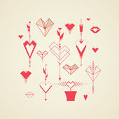 Set of design elements for Valentine's Day — 图库矢量图片