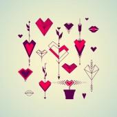 Valentine's Day set of symbols — Stock Vector