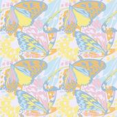 无缝模式与色彩艳丽的蝴蝶 — 图库矢量图片