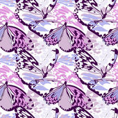 Seamless butterfly wing pattern — Stock Vector