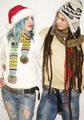 冬服でお似合いのカップル — ストック写真