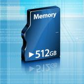 Abstract computer memory on abstract computer background — Stock Vector
