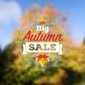Gran venta de otoño — Vector de stock