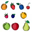 Set of fruits in sketch pencil style — Stock vektor #69317869