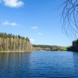 Level of the lake under blue sky — Stock Photo #71078617