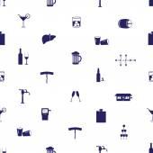 Alkohol pije eps10 bezešvé vzor ikony — Stock vektor
