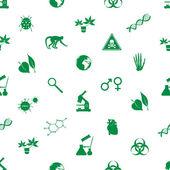 Biology icons seamless pattern eps10 — Vector de stock