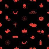 Halloween icons dark seamless pattern eps10 — Stock Vector