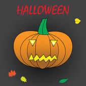 Halloween carved pumpkin eps10 — Vector de stock