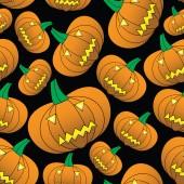 Halloween tallada eps10 calabaza de patrones sin fisuras — Vector de stock