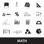 Mathematics icons set eps10 — Stock Vector