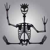 Crazy alien skeleton eps10 — Stock Vector