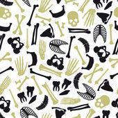 Human bones symbols seamless pattern eps10 — Stock Vector