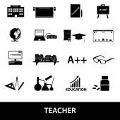 Teacher profession and teaching icons eps10 — Stock Vector