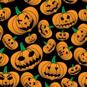 Orange halloween ristade pumpa seamless mönster eps10 — Stockvektor