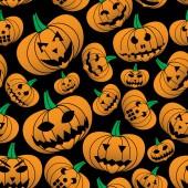 Oranžová halloween vyřezávané dýně bezešvé pattern eps10 — Stock vektor