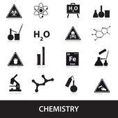 Chemistry icons set eps10 — Stok Vektör