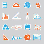 Mathematics stickers set eps10 — Stock Vector