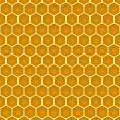 Bee honeycomb colorful seamless pattern eps10 — Stock Vector #55687173